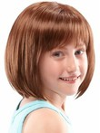 Shoulder Length Lace Front Straight Girls Wig