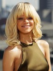 Shining Rihanna's Capless Synthetic Wavy Celebrity Wig