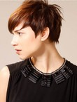 Short Straight Nice Boycut Synthetic Wig