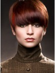 Red Capless Straight Stupendous Human Hair Wig