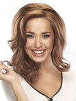 Elegante Mid-human Hair Length Top Monofilament Wavy Wig