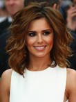 Cheryl Cole Length Shoulder Tousled Waves Celebrity Wig