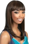 Cleopatra Style Sleek African American Wig With Bold Bangs