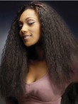 Lace Long No Bang Curly African American Wig