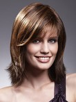 Remy Hair Textured Most Popular Layers Lace Front Wig