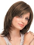 Remy Hair Lace Front Marvelous Straight Mid-natural Length Wig