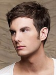 Full Lace Human Hair Mens Short Mens Wig
