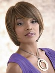 Elegance Synthetic Capless Bob Style African American Wig