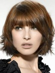 Romantic Straight Medium Lace Front Synthetic Wig