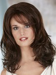 Length Stylish Shoulder Wavy Lace Front Wig