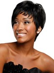 Synthetic Boy-cut Asymmetrical Chic African American Wig