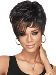 Synthetic Dramatic Tomboy Chic African American Wig