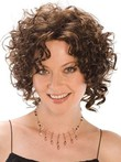 Cute Curly Length Medium Synthetic Wig