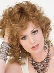 Synthetic Medium Layewavy Red Length Wig