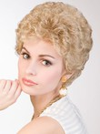 Curly Synthetic Medium Lace Front Wig