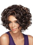 Synthetic Curly Chin-gorgeous Length African American Wig