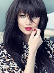 Straight Remy Human Hair Elegant Capless Wig