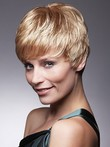 Cute Cropped Pixie Flattering Human Hair Wig