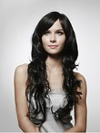 Fine Long Capless Wavy 100% Human Hair Wig