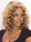 Mid-lace Front Synthetic Length African American Wig