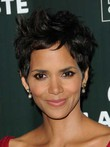 Halle Berry's Hairstyle Wavy Short Human Hair Wig