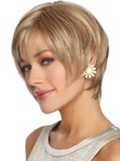 Short Sleek Straight Fashion Shag Synthetic Wig