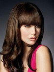 Wavy Polished Remy Human Hair Capless Wig