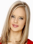 Straight Medium Lace Front 100% Human Hair Wig For Woman