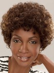 Synthetic Mid-curly Length African American Wig