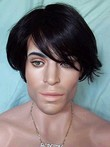 Perfect Short Capless Synthetic Mens Wig