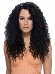 Layelong Curly Synthetic Red African American Wig