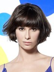 Capless Length Impressive Short Straight Human Hair Wig
