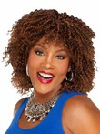 Natural Medium Synthetic Curly African American Wig