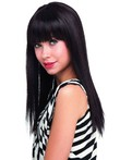 Human Hair Strikingly Straight Pleasant Long Capless Wig