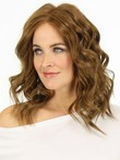 Romantic Medium Human Hair Wavy Capless Wig