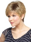 Length Short Elegant Capless Synthetic Wig