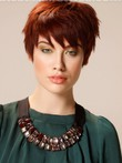 Synthetic Romantic Capless Wig With Short Straight Style