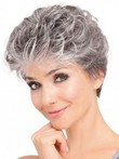 Wavy Soft Lace Front Synthetic Gray Wig