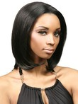 Straight Human Hair Lace Front African American Wig