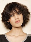 Length Capless Stunning Medium Human Hair Wig
