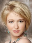 Straight Lace Short Front Elegante Synthetic Wig