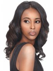 Lace Front Wavy Human Hair Long African American Wig