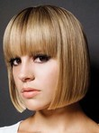 Capless Straight Modern Human Hair Wig