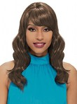 Wavy Silky Synthetic Capless African American Wig