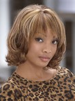 Elegance Mid-wavy Length Synthetic African American Wig