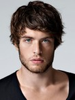Soft Short Wavy Human Hair Men Wig