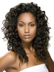 Synthetic Lace Front Curly Long African American Wig