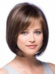Short Modern Full Lace Bob Style Straight Wig