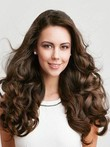 Nice-looking Wavy Human Hair Long Full Lace Wig
