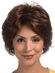 Cool Red Short Feathery Layesynthetic Style Lace Wig For Woman